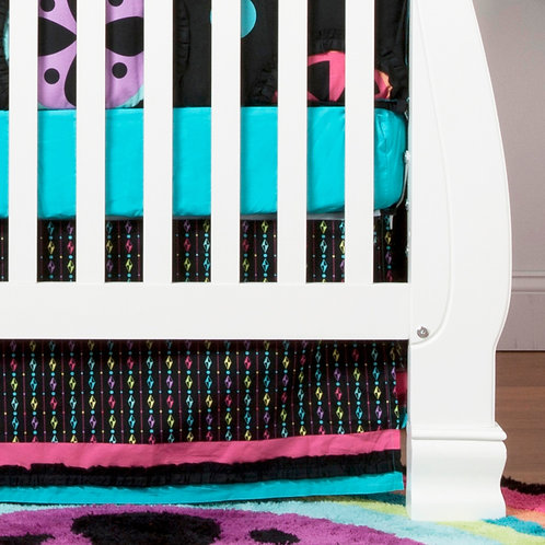 Magical Michayla - Crib Bed Skirt