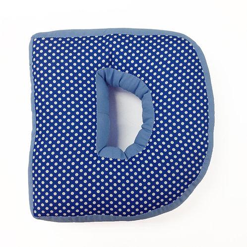 Simplicity Blue - Letter Pillow D