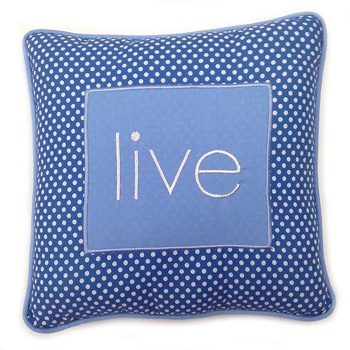 Simplicity Blue - Decorative Pillow - Live