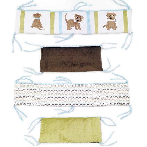 Puppy Pal Boy - Crib Bumper / Rail Cover