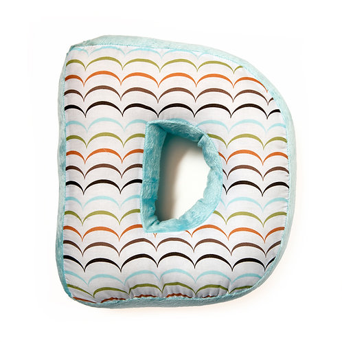 Puppy Pal Boy - Letter Pillow D