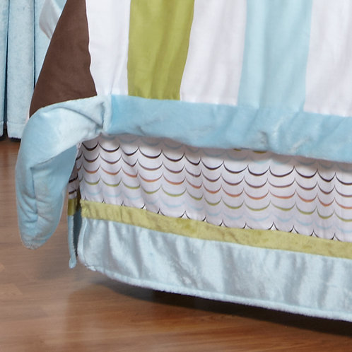 Puppy Pal Boy - Twin Bed Skirt