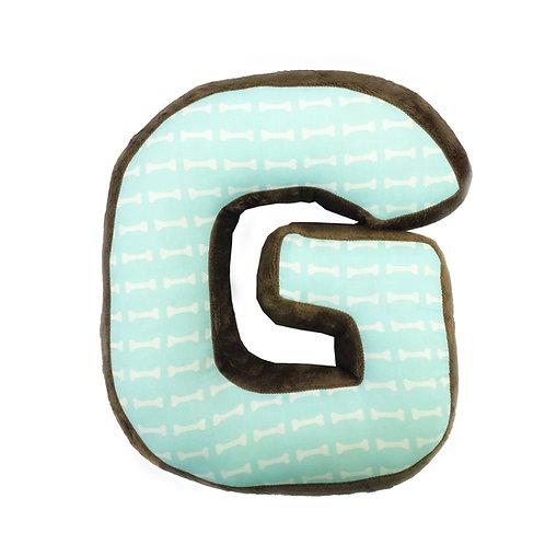 Puppy Pal Boy - Letter Pillow G