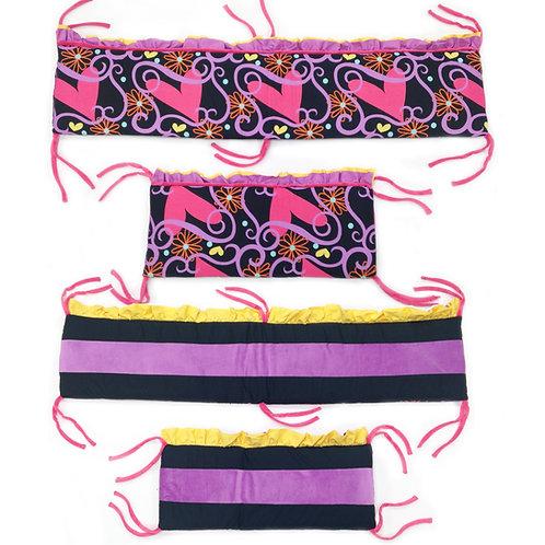 Sassy Shaylee - Crib Bumper / Rail Cover