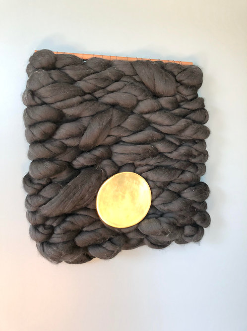 Weaving #2: Black with Gold Circle