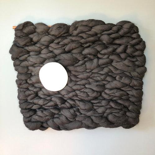 Weaving #4: Black with White Circle