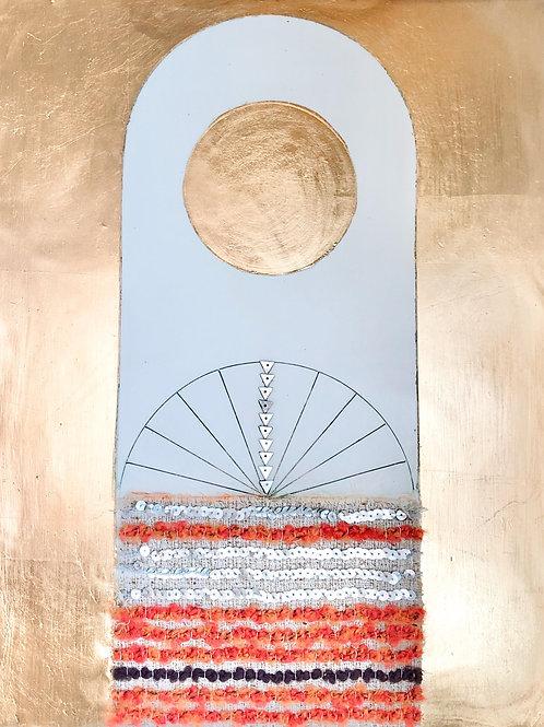 Textile Encaustic Piece #1