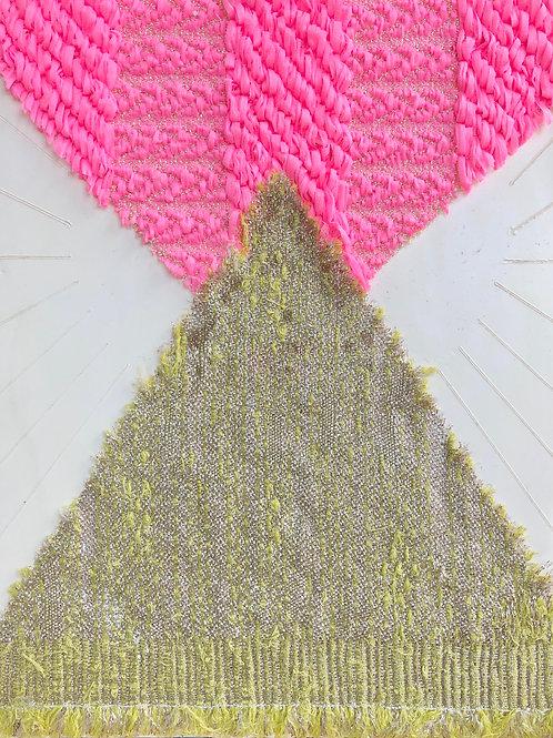 Textile Encaustic Piece #2