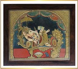 Ganpati Tanjore Painting