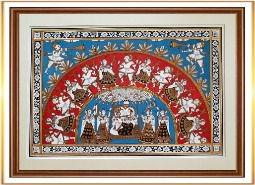 Radha Krishna Phad Painting