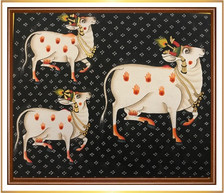 Cows with Black and White Background 1