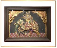 Krishna on Elephant