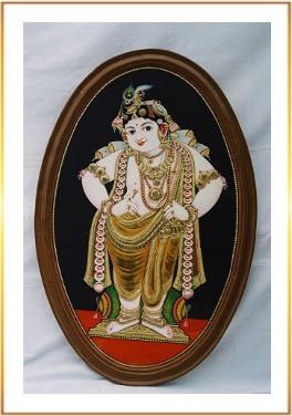 Oval Standing Krishna