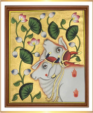 2 Cows with Lotus