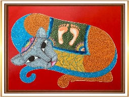 The Cat Gond Painting