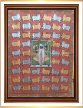 Srinathji with Gold Siver Cows