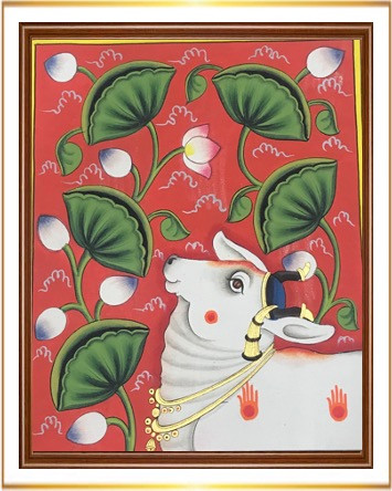 Cow with Lotus