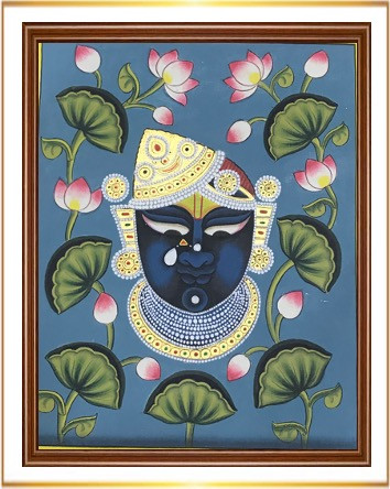 Srinathji Face with Lotus