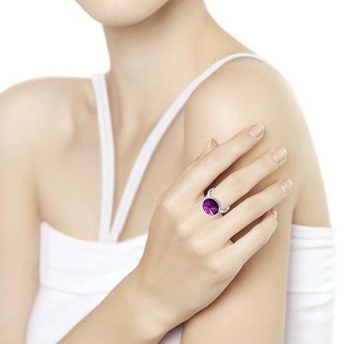 Кольцо из серебра с кристаллом Swarovski