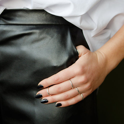 Базовое кольцо из серебра