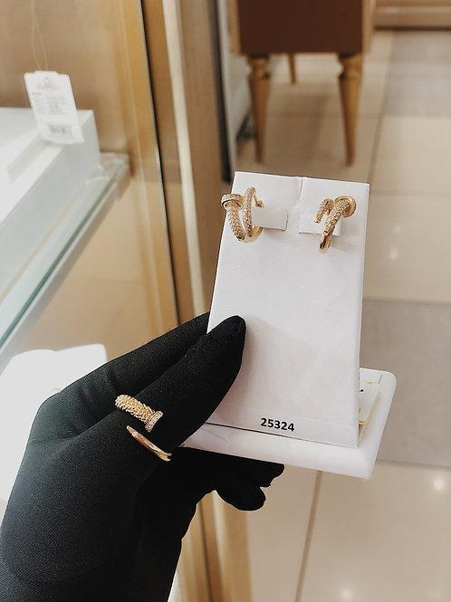 Комплект Серьги + Кольцо золотые
