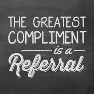 The greatest compliment is a referral.jp