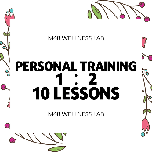 Personal Training 1:2 10 lessons