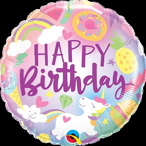 "Standard Foil Balloon ""Fantastical Birthday Fun!"" 18"" Helium Filled"