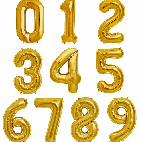 Jumbo GOLD Number (Helium Filled)