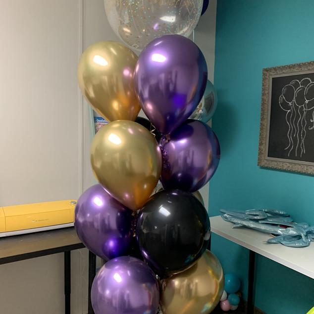 Bubble birthday balloon bouquet
