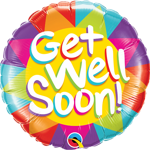 "StandStandard Foil Balloon ""Get Well Soon"" 18"" Helium Filled"