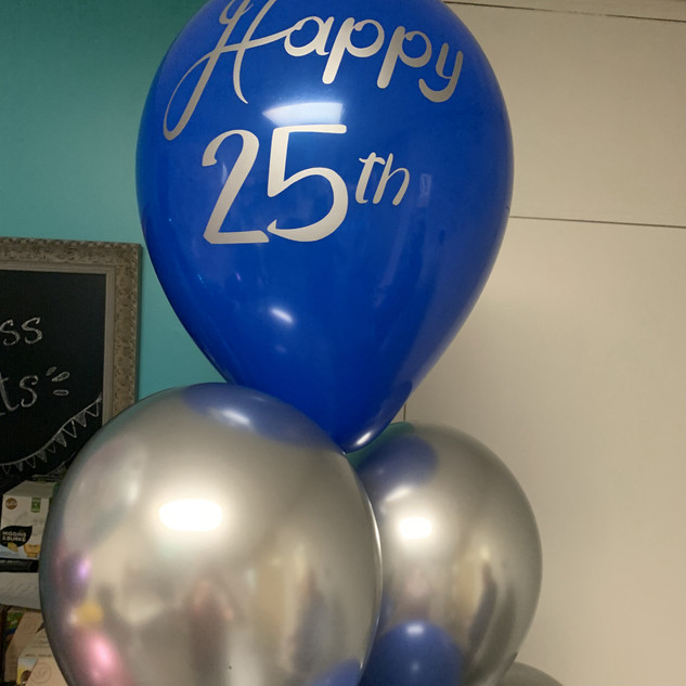 Personalized 25th Balloons