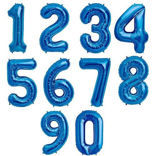 """34""""Jumbo BLUE Number (Helium Filled)"""