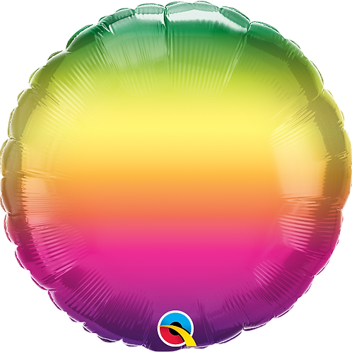 """Standard Foil Balloon """"Vibrant Ombre"""" 18"""" Helium Filled"""