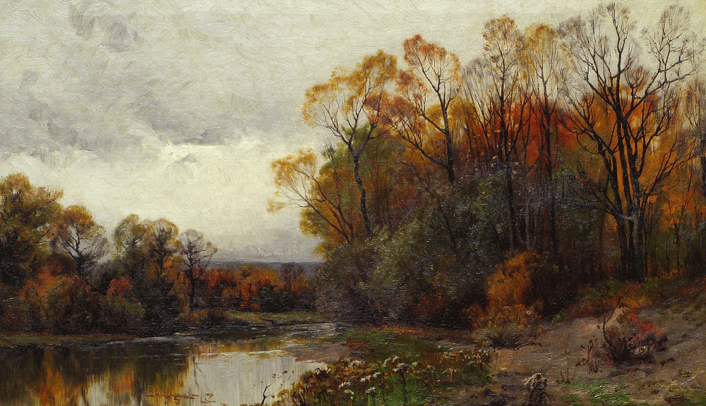 Lake in Autumn by Charles Harry Eaton