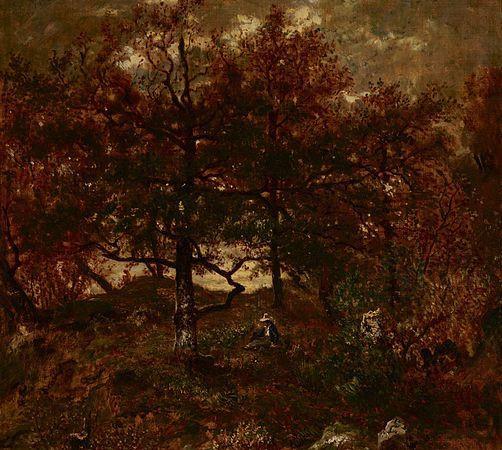 Autumn at St. Jean de Paris, Forest of Fontainebleau by Théodore Rousseau