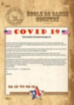 Décharge de responsabilité - COVID 19