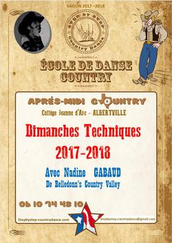 Dimanches Techniques 2017 - 2018