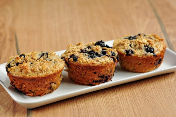 Flourless Blueberry Muffins
