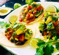 Savory Sweet Potato & Black Bean Tacos
