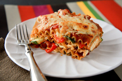 Vegetarian Zucchini Lasagna for One