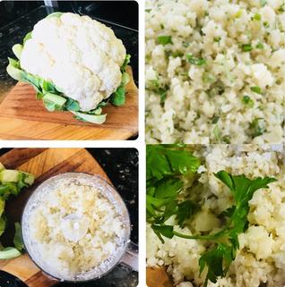 Cauliflower Rice with Parsley