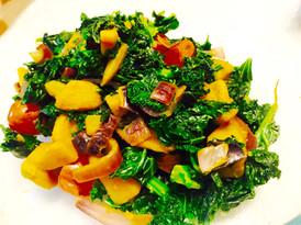 Fiber-Rich Roasted Butternut Squash and Kale