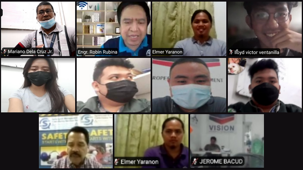 Screenshot of VPDC employees in safety training by Red Cross