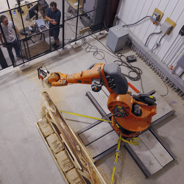 robotics, material innovation, sustainable materials, wood architecture, digital fabrication