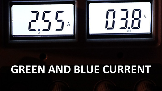 GREEN AND BLUE CURRENT READINGS