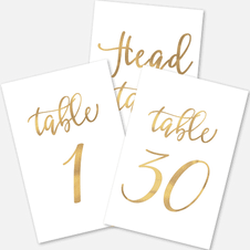 1-20 Paper Table Numbers