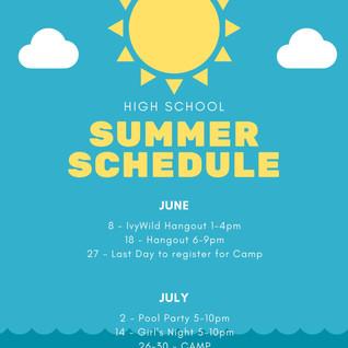 High School Summer Schedule