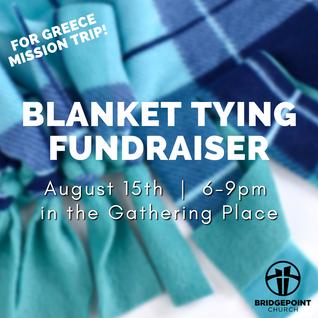 Blanket Tying Fundraiser