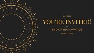 AU PRSSA End of Year Awards Facbook Event Banner